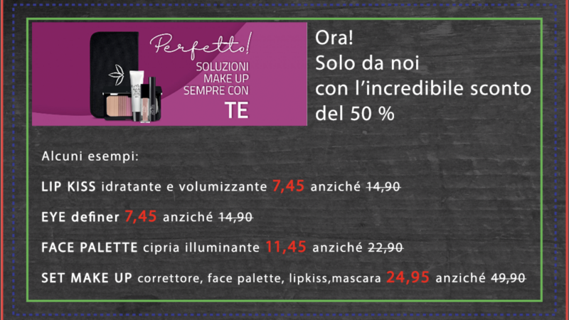 Perfetto! La soluzione make up adatta a TE, ora da noi superscontata