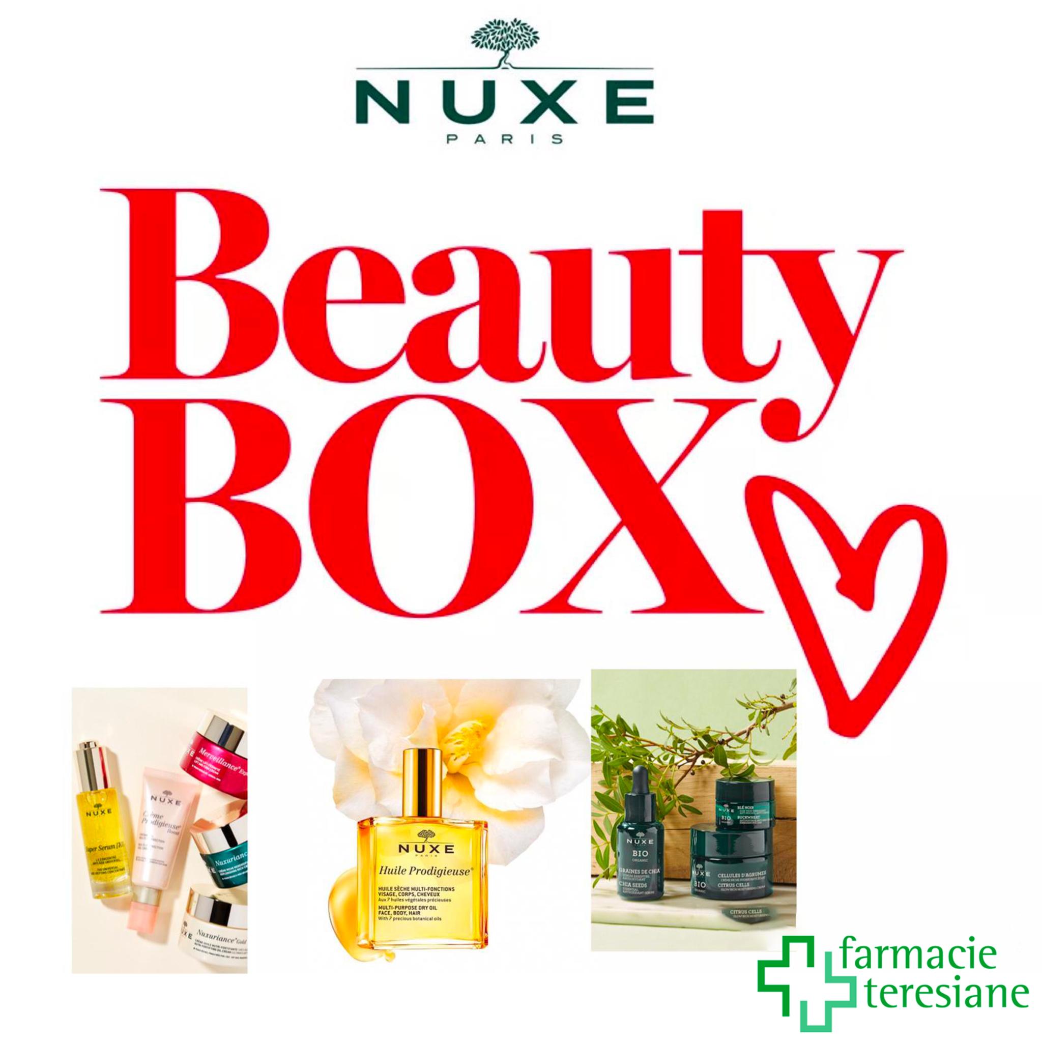 """Nuxe ti invita all'evento """"Crea la tua beauty box"""".Martedì 09 febbraio presso la Farmacia San Raffaele di Mantova"""