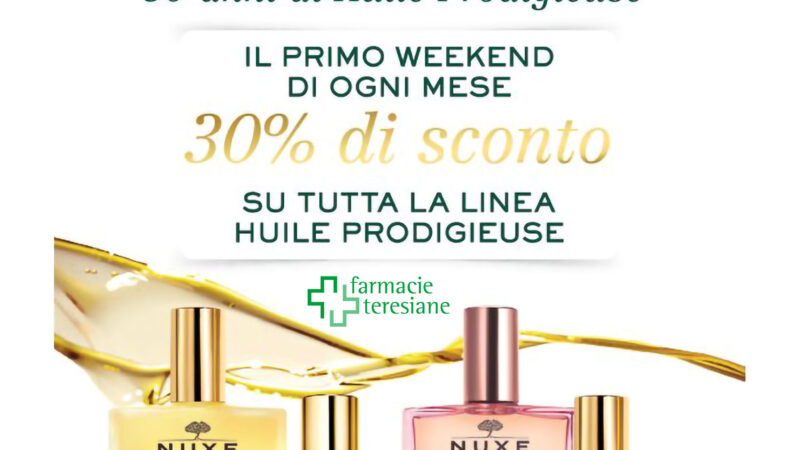 PROMOZIONE NUXE PRIMO WEEKEND DEL MESE