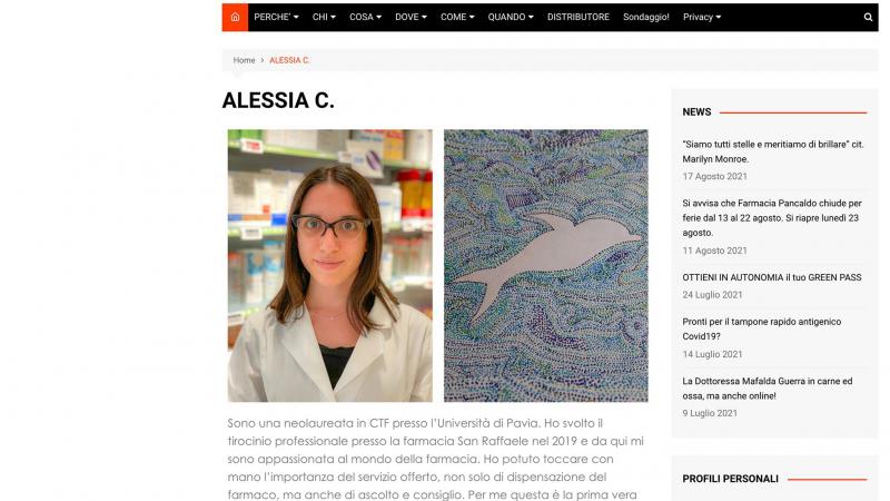 """È stato facile intuire tra colleghi il nostro pensiero e farci dire: """"abbiamo proprio bisogno di una Collega come Alessia""""."""